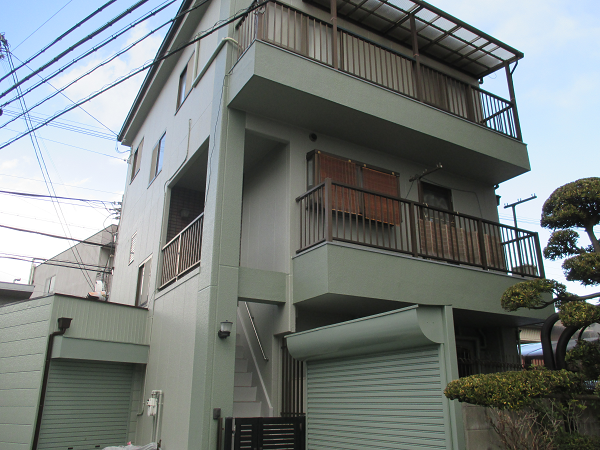 八尾市F様邸アステックペイント塗装後-01
