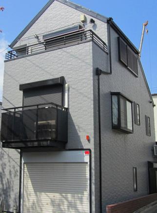 大阪市住吉区での外壁塗装事例0723